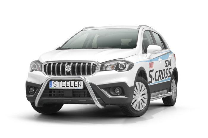 Frontschutzbügel Kuhfänger Bullfänger, Suzuki SX4 S-Cross 2016-, Steelbar 60mm