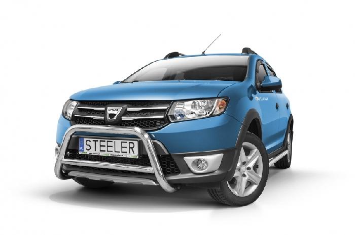 Frontschutzbügel Kuhfänger Bullfänger Dacia Sandero Stepway 2012-2016, Steelbar Q 60mm