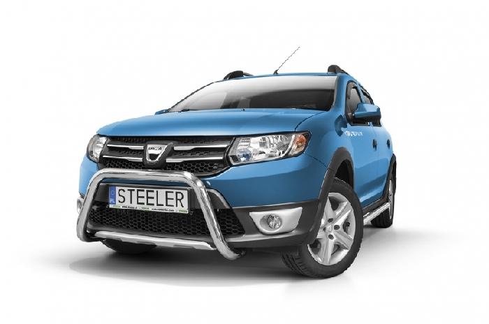 Frontschutzbügel Kuhfänger Bullfänger Dacia Sandero Stepway 2012-2016, Steelbar 60mm