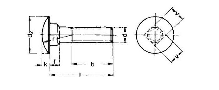Schlossschraube M6x16, V2A, 1 Stk.