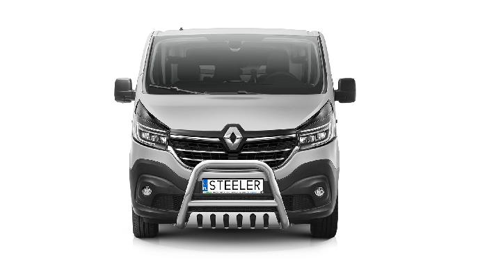Frontschutzbügel Kuhfänger Bullfänger Renault Trafic 2019-, Steelbar QFU 70mm