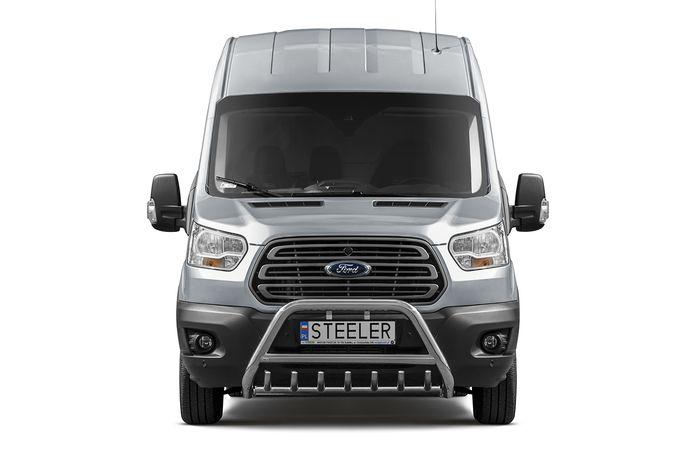 Frontschutzbügel Kuhfänger Bullfänger Ford Transit 2014-, Steelbar QRU 70mm
