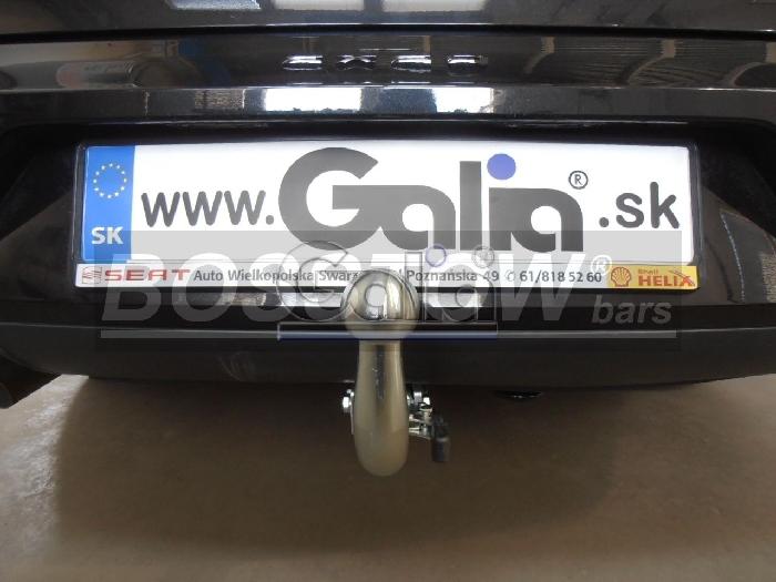 Anhängerkupplung für Audi-A4 Limousine nicht Quattro, nicht S4, incl. S-line, Baureihe 2004-2007  horizontal
