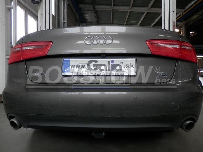 Anhängerkupplung für Audi-A6 Limousine 4G, C7, Quattro, Baureihe 2011-2014  horizontal