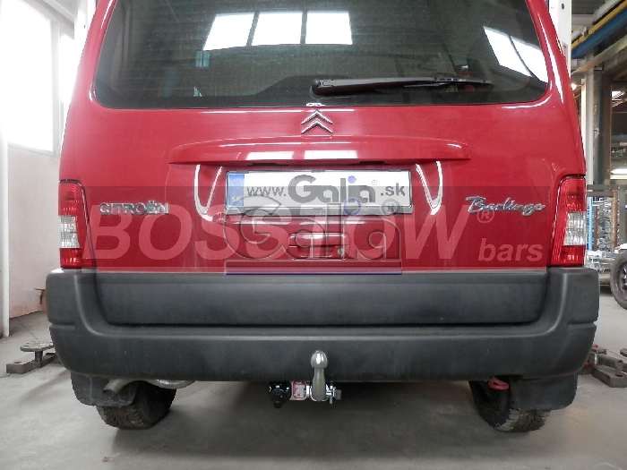 Anhängerkupplung für Citroen-Berlingo Kasten, Bus Kombi, Multisp., Baureihe 1996-2000  horizontal