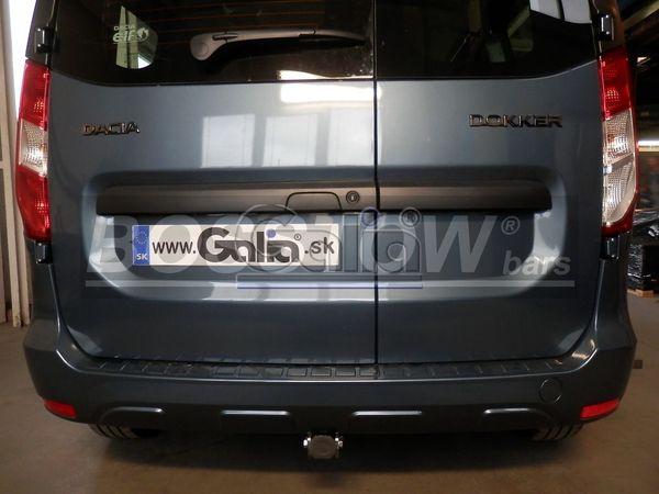 Anhängerkupplung für Dacia-Dokker Stepway, nicht LPG Gasfahrzeuge, Baureihe 2012-2017  horizontal
