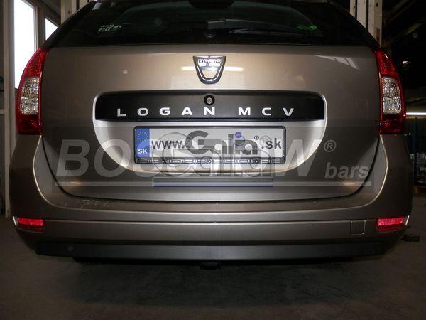 Anhängerkupplung für Dacia-Logan Kombi MCV, spez. Fzg. mit Gasanlage, Baureihe 2013-  horizontal