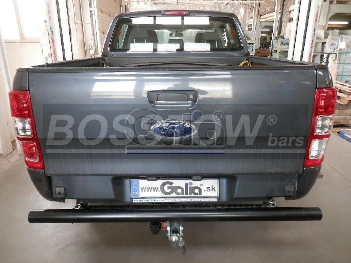 Anhängerkupplung Ford Ranger 4x4 WD m. Trittbrett f. Fahrzeuge mit Elektrosatz Vorbereitung, Baureihe 2016-  horizontal