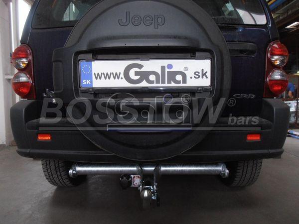 Anhängerkupplung Jeep-Liberty, Baureihe 2002-2007  horizontal