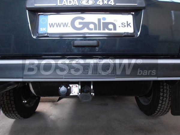 Anhängerkupplung für Lada-Niva spez. Fahrzeuge mit Gasanlage, Baureihe 1979-1995  horizontal