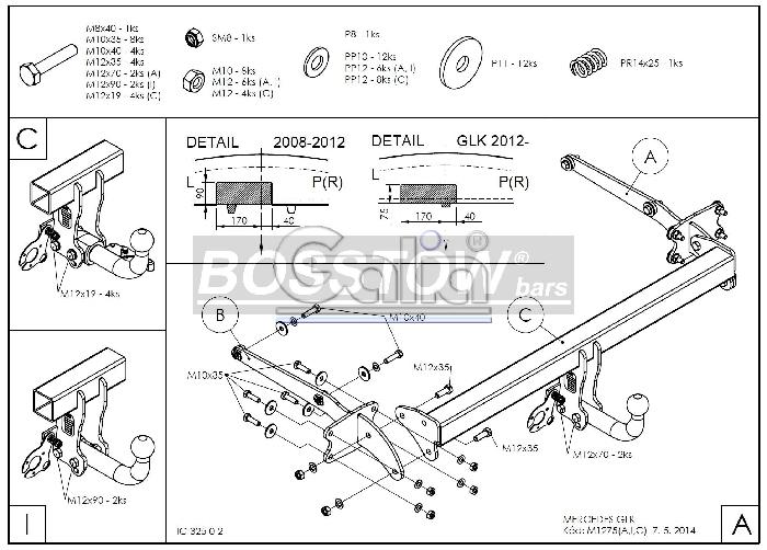 Anhängerkupplung abnehmbar Mercedes GLK X204 AHK abnehmbar 1138871 ...