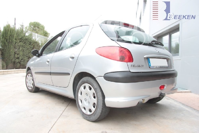 Anhängerkupplung Peugeot 206 XR, XT, nicht Sportschürze, Baureihe 1998-  horizontal