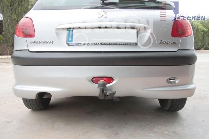 Anhängerkupplung Peugeot-206 Base, (nicht GTI, GT, XS, 16V, 206CC), Baureihe 2003-2009 Ausf.:  horizontal