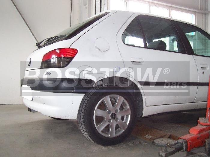 Anhängerkupplung Peugeot 306 Fließheck, nicht Cabrio, Baureihe 1997-2001  horizontal