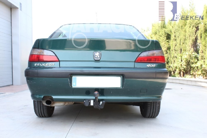 Anhängerkupplung Peugeot 406 Limousine, Baureihe 1995-1999  horizontal