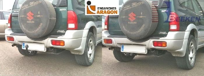 Anhängerkupplung Suzuki Grand Vitara 5-türig nicht Cabrio, nicht XL- 7, Baureihe 1998-2004  horizontal