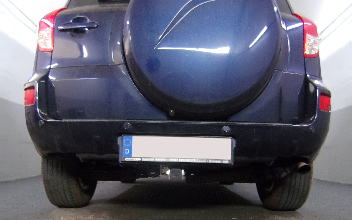 Anhängerkupplung für Toyota-RAV 4 III (XA3) Fzg. m. Nummernschild im Stossfänger, Baureihe 2006-2008  horizontal