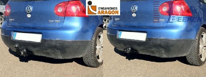 Anhängerkupplung für VW-Golf VI Limousine, nicht 4x4, Baureihe 2008-  horizontal