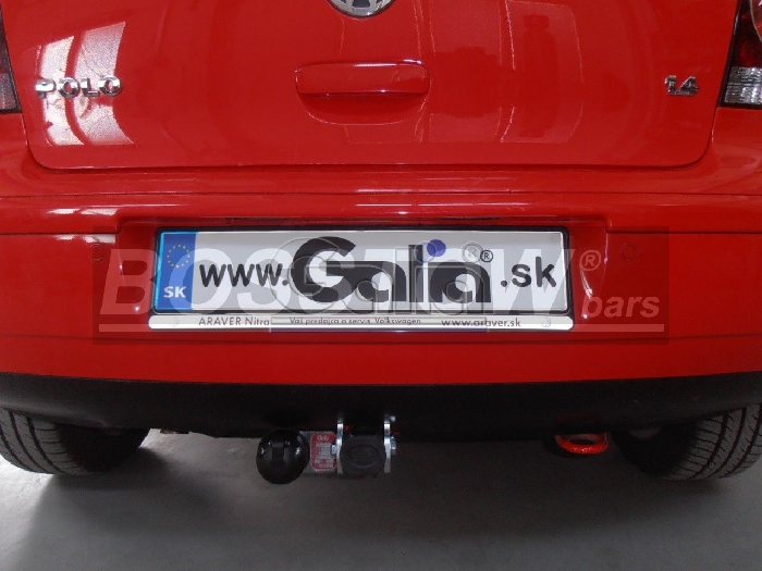 Anhängerkupplung VW-Polo (9N)Steilheck/ Coupé, inkl. Cross, nicht Fun, Baureihe 2005-2009 Ausf.:  horizontal