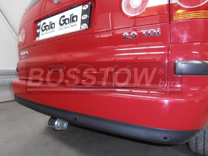Anhängerkupplung für VW-Sharan inkl. 4x4, Baureihe 2000-2006  horizontal