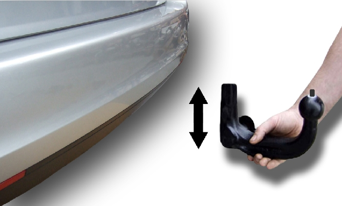 Anhängerkupplung VW Beetle incl. Cabrio, incl. R-line, 5C, nur für Heckträgerbetrieb, Baureihe 2011-  vertikal