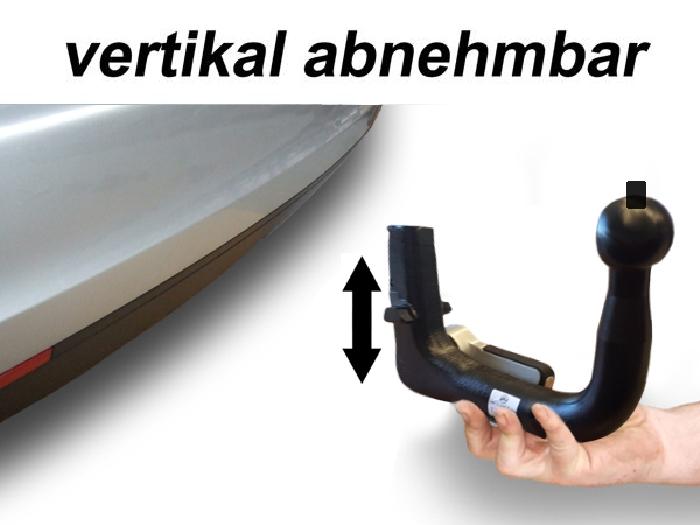 Anhängerkupplung Opel Ampera-e Heckträgeraufnahme, nur für Heckträgerbetrieb, Baureihe 2017-2019  vertikal