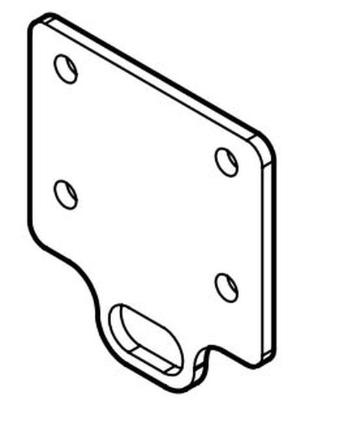 Adapterplatte für GDW 50V u. Rockinger