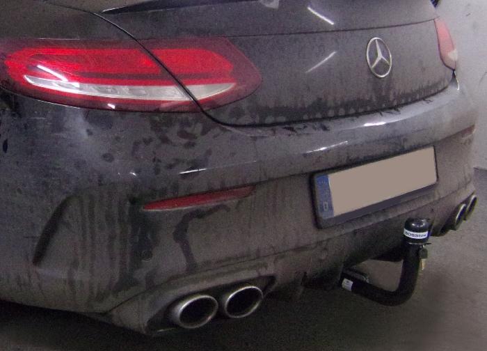 Anhängerkupplung Mercedes-AMG-AMG C43 Cabrio A205 Ausführung C43 (vorab Anhängelastfreigabe prüfen), Montage nur bei uns, Baureihe 2018- Ausf.:  vertikal