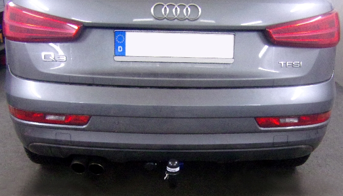 Anhängerkupplung für Audi-Q3, Baureihe 2011-2018  vertikal