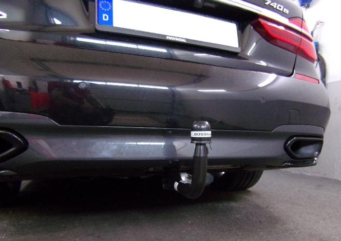 Anhängerkupplung BMW 7er Limousine Hybrid G11, G12 nur für Heckträgerbetrieb, Montage nur bei uns im Haus, Baureihe 2015-  vertikal