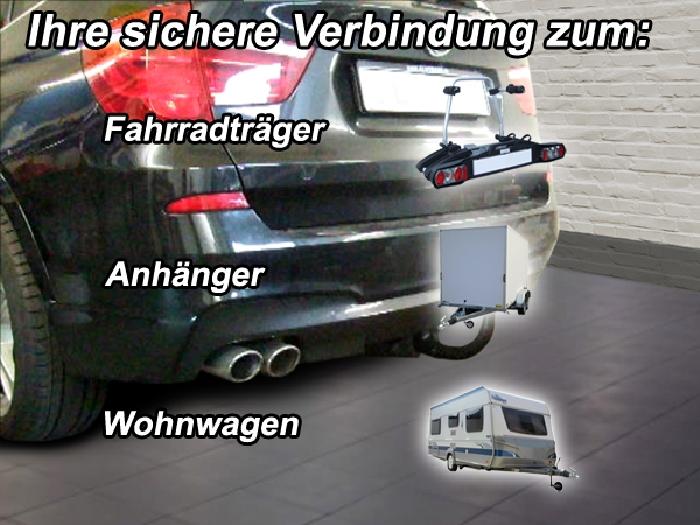 Anhängerkupplung für BMW-X3 F25 Geländekombi, spez. M- Paket, Baureihe 2010-2014  vertikal