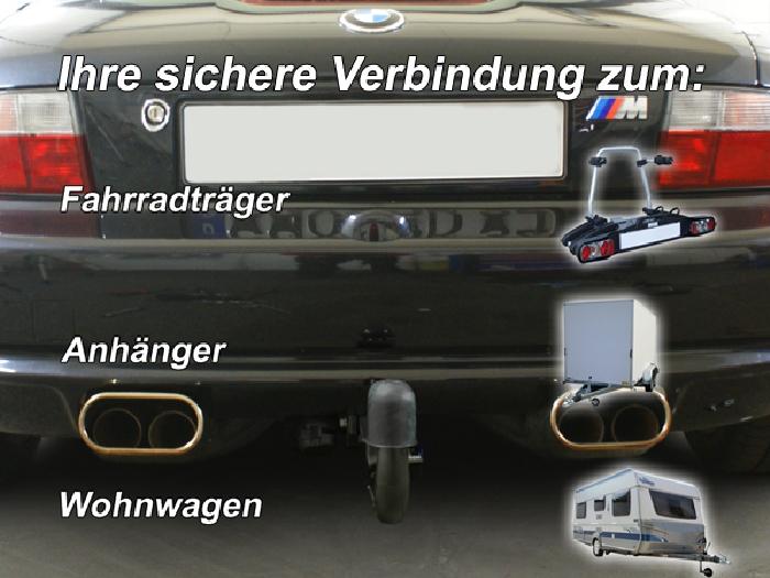 Anhängerkupplung für BMW-Z3 Roadster, E36/7, Baureihe 1995-1999  vertikal