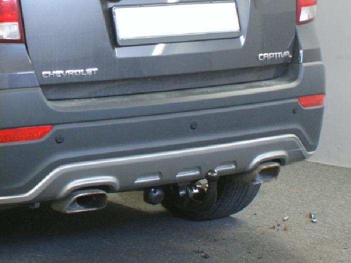 Anhängerkupplung für Chevrolet-Captiva Fzg. ohne Elektrosatz Vorbereitung, Baureihe 2013-  vertikal