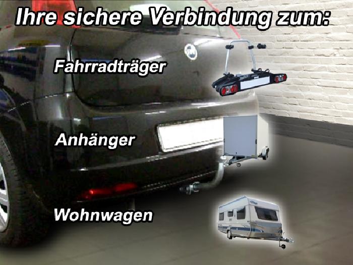 Anhängerkupplung für Fiat-Punto Grande Punto, Baureihe 2006-2013  horizontal