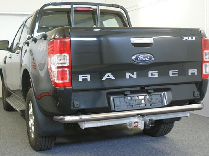 Anhängerkupplung für Ford-Ranger 4x2 WD m. Trittbrett f. Fahrzeuge ohne Elektrosatz Vorbereitung, Baureihe 2016-  feststehend