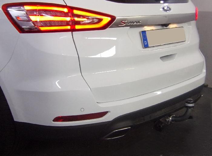 Anhängerkupplung für Ford-S-Max nicht Fzg. m. Fuss Sensor Heckklappe, Baureihe 2015-  horizontal