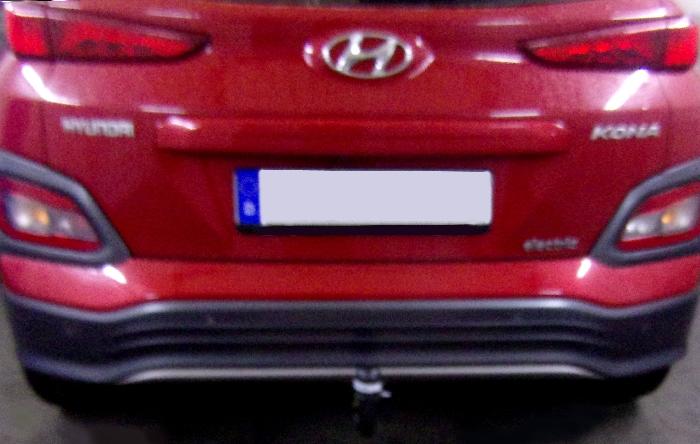 Anhängerkupplung Hyundai Kona Elektro, ohne E-Satz Vorbereitung, nur für Heckträgerbetrieb, Baureihe 2018-  vertikal