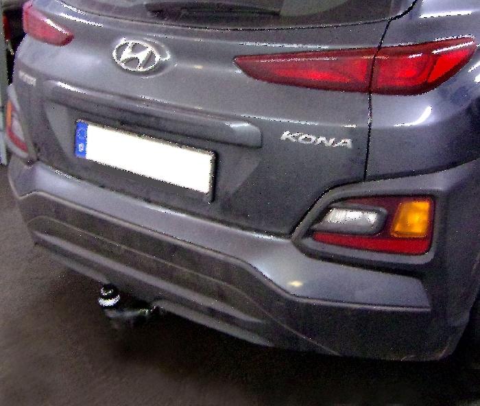 Anhängerkupplung Hyundai Kona Fzg. ohne E-satz Vorbereitung, nicht AdBlue, nicht Hybrid, Baureihe 2017-  horizontal