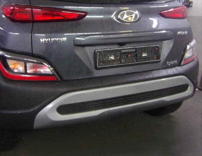 Anhängerkupplung Hyundai Kona Fzg. ohne E-satz Vorbereitung, nicht AdBlue, nicht Hybrid, Baureihe 2017-  vertikal