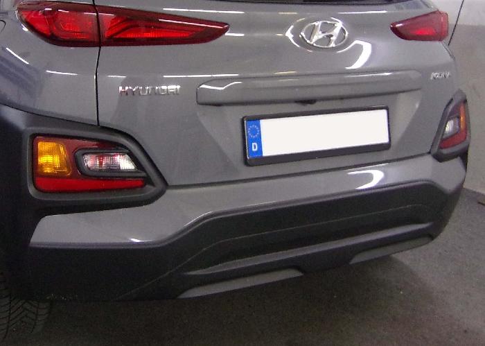 Anhängerkupplung Hyundai-Kona Fzg. ohne E-satz Vorbereitung, spez. AdBlue, Baureihe 2017- Ausf.:  vertikal