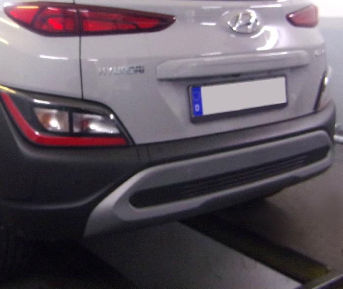 Anhängerkupplung Hyundai-Kona Fzg. mit E-satz Vorbereitung, spez. AdBlue, spez. Hybrid, Baureihe 2017- Ausf.:  feststehend
