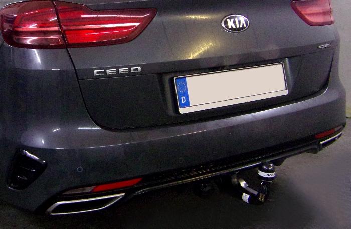 Anhängerkupplung für Kia-Cee`d Sportswagon, mit Elektrosatzvorbereitung, spez. GT-Line, Baureihe 2018-  vertikal
