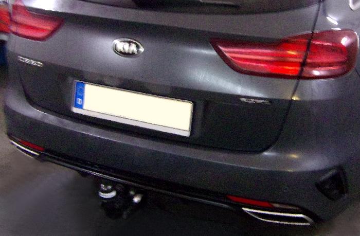 Anhängerkupplung Kia-Cee`d Sportswagon, mit Elektrosatzvorbereitung, spez. GT-Line, Baureihe 2018- Ausf.:  vertikal