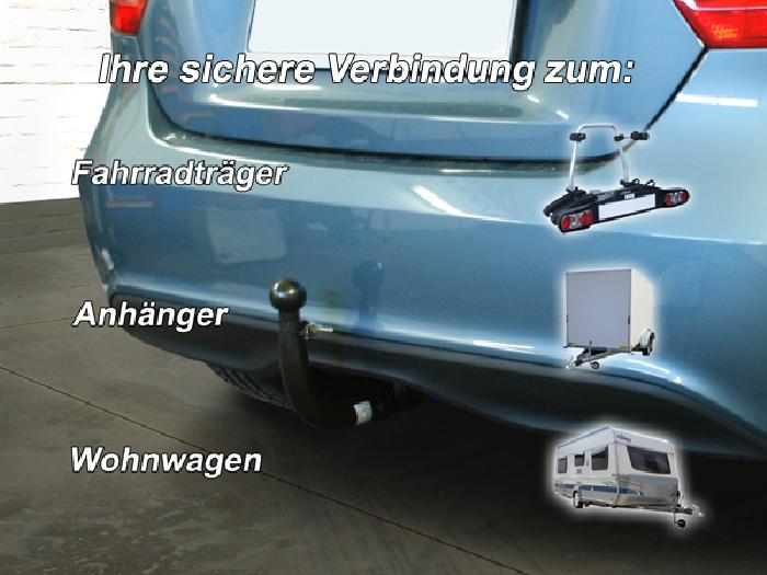 Anhängerkupplung für Mercedes-B-Klasse W246, Baureihe 2011-2014  vertikal