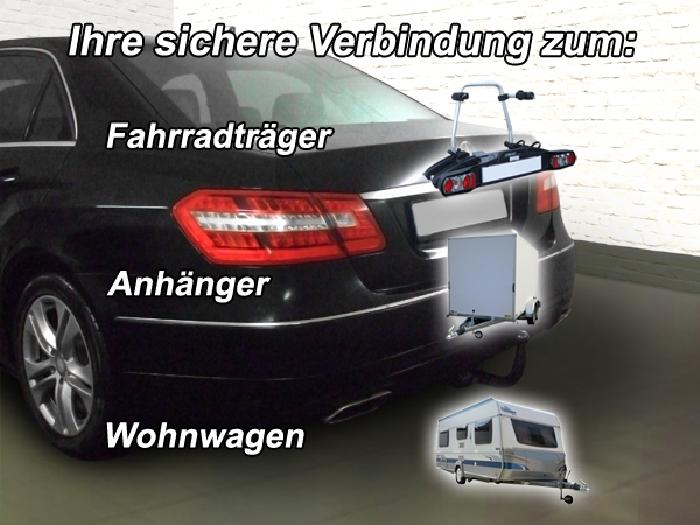 Anhängerkupplung für Mercedes-E-Klasse Limousine W 212, Baureihe 2009-2011  vertikal