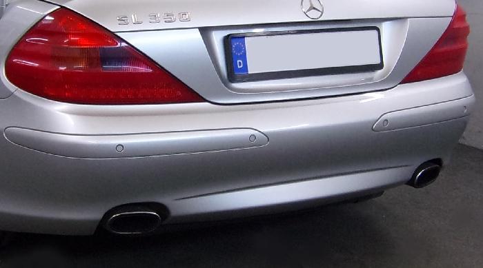 Anhängerkupplung Mercedes SL R 230 I, nur für Heckträgerbetrieb, Montage nur bei uns im Haus, Baureihe 2001-2006  vertikal