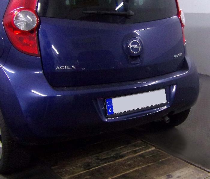 Anhängerkupplung Opel-Agila Minivan, Baureihe 2008- Ausf.:  feststehend