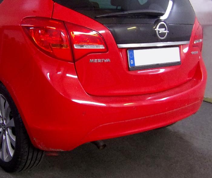 Anhängerkupplung Opel-Meriva B, Minivan, nicht für Kfz. mit Fahrradträgersystem Flex-Fix, Baureihe 2010-2014 Ausf.:  feststehend
