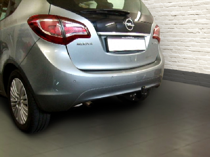 Anhängerkupplung für Opel-Meriva B, Minivan, nicht für Kfz. mit Fahrradträgersystem Flex-Fix, Baureihe 2010-2014  vertikal