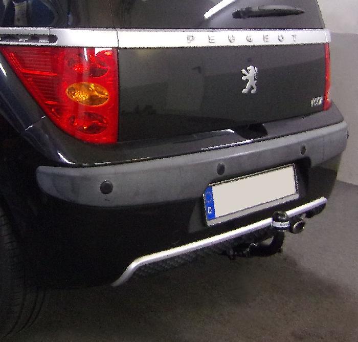 Anhängerkupplung Peugeot-1007, Baureihe 2005-,  Ausf.:  horizontal